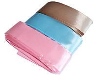 Лента на конверт для выписки из роддома Атлас ширина 4 см. Розовый