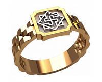 Деловой золотой мужской перстень 585* пробы без камней
