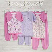 Пижама-девочке 1-3-5лет, 1115GERDA трикотаж-хлопок-рибана, в наличии 92,104,116  Рост