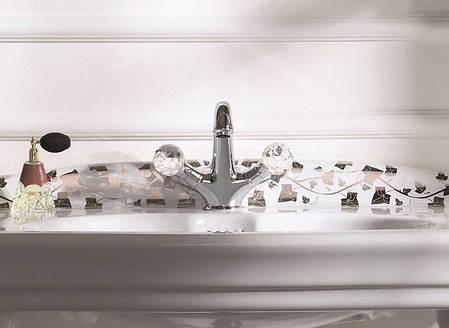 Смеситель для умывальника Webert Karenina с ручками Swarovsky (хром) KA700101015, фото 2