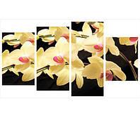 Сегментная 4- модульная картина ORCHID YELLOW