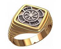 Фантастический золотой мужской перстень 585* пробы без камней