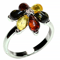 Янтарь Прибалтика, серебро 925, 169КЯ  кольцо