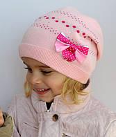 Шапка Горошек (50-57 размер, в наличии розовый и темно-розовый), фото 1