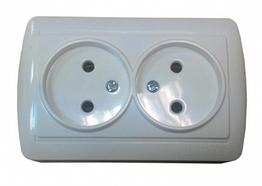 Розетки двойные без заземления  ElectroHouse ЕН-2146  Accura