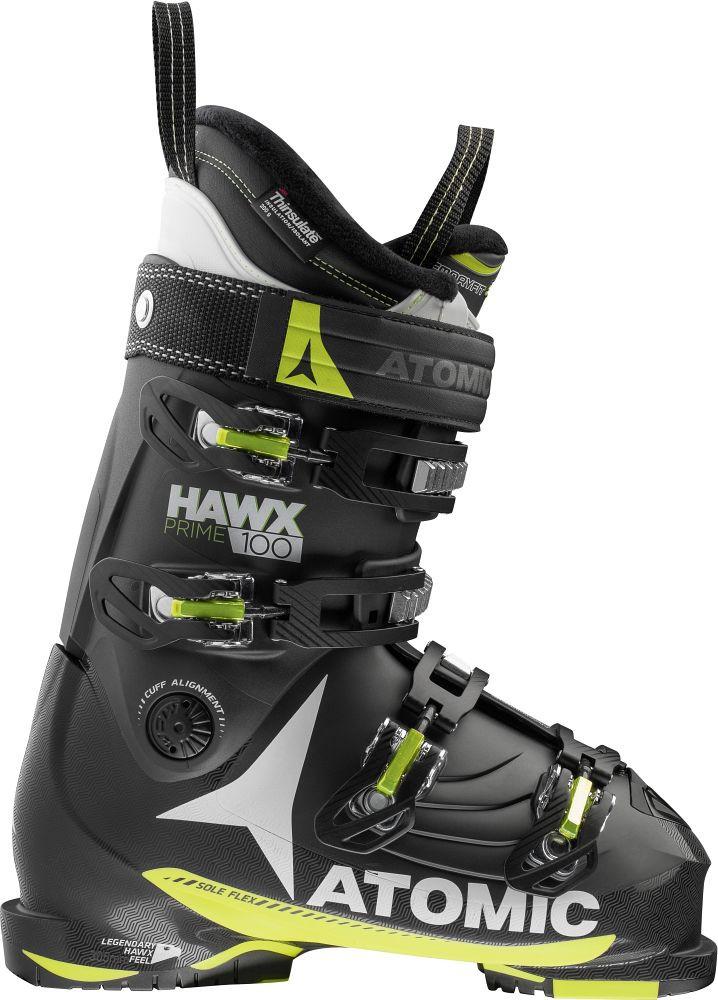 Горнолыжные ботинки Atomic HAWX PRIME 100 black/Lime/white (MD)