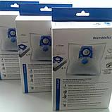 Комплект мешков для сбора пыли пылесоса Zelmer 49.4020, ZVCA100B, 49.4000 синий-4 шт, фото 2
