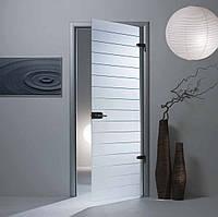 """Межкомнатная стеклянная дверь  """"Штрих-код"""""""