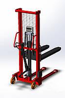 Штабелёр гидравлический с весами 4BDU1000Ш практичный, НПВ: 1000 кг