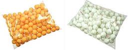 Шарики для настольного тенниса в пакете (140 шт).