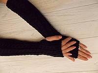 Митенки вязанные длинные