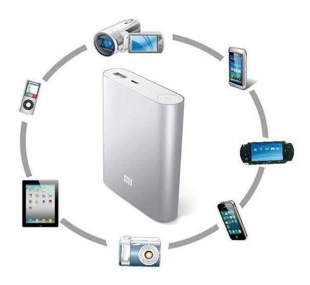 Внешний аккумулятор зарядка универсальная Power Bank XiaoMi 10400mAh Павер банк + бокс 2