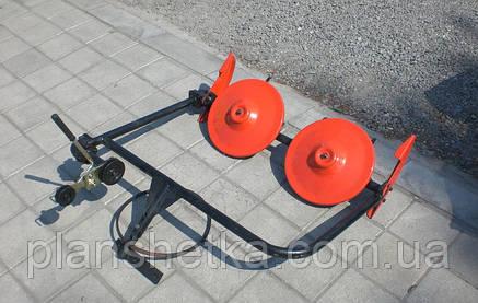 Косилка роторная ременная КР-01 ШИП кованые ножи без ремня (для МБ с водяным охлаждением), фото 2