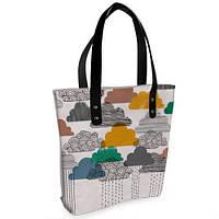 Женская сумка Bigbag с принтом Тучи цветные