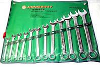 """Набор комбинированных ключей JONNESWAY W26411SA 3/8""""-1"""" 11 шт."""