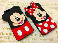 Резиновый 3D чехол для iPhone 6 Plus / 6S Plus Мими и Мики