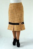 Теплая женская юбка на зиму из пальтовой ткани Валентина