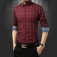 Мужская рубашка с натуральной ткани