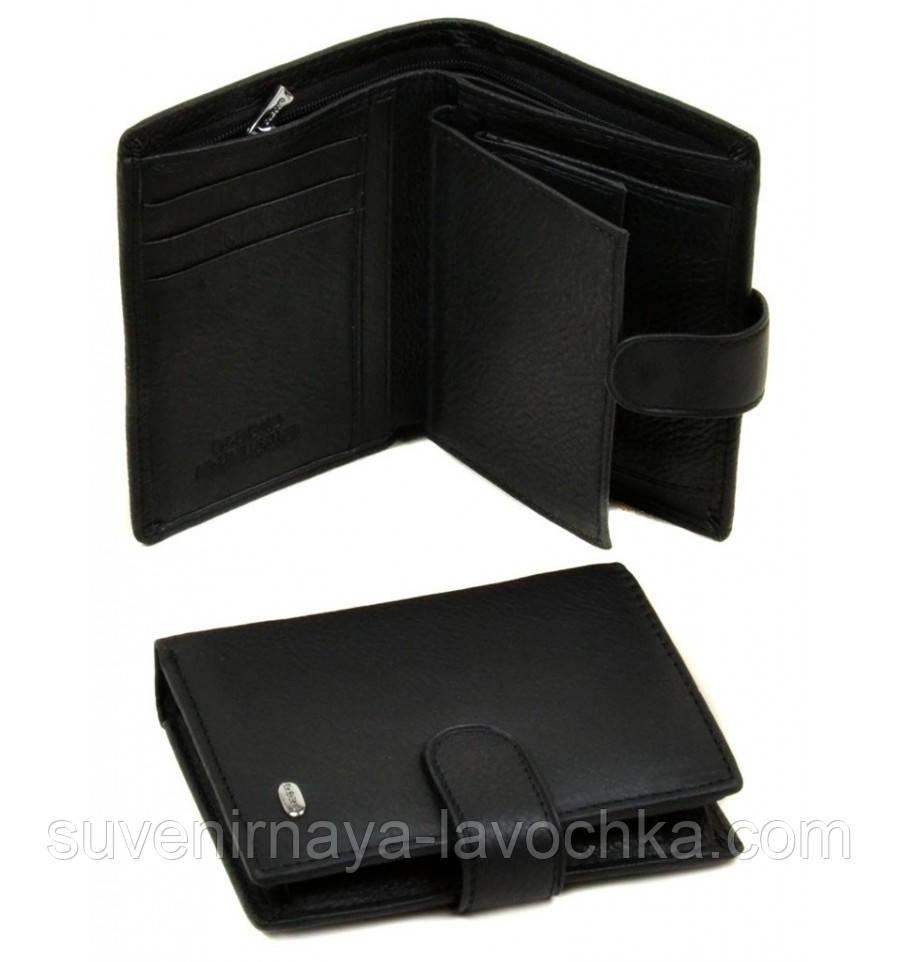 Кошелек Classik кожа dr.Bond M33 black, кошелек компактный, карманный
