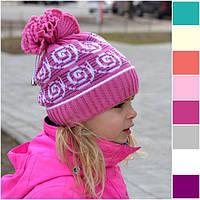 Демисезонная плотная шапка Волна (50-56 размер, расцветки в ассортименте), фото 1