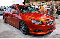 Накладка на передний бампер Chevrolet Cruze (Z-Line)