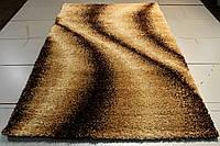 Пушистый ковёр в спальню Shaggy Gold