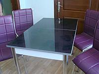 """Комплект стол и стулья для кухни """"Фиолетовые цветы"""" (Лотос-М)"""