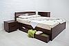 """Кровать из натурального дерева """"Лика Люкс с ящиками"""""""