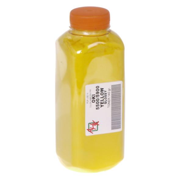 Тонер АНК для OKI C5500/5550/5800/5900 бутль 140г Yellow (1502020)