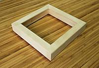 Деревянная рамка 25x25 см (липа глубокий 24х35 мм), фото 1