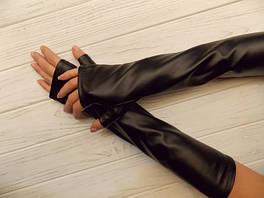 Митенки длинные, рукава, длинные перчатки, перчатки с митенками длинные