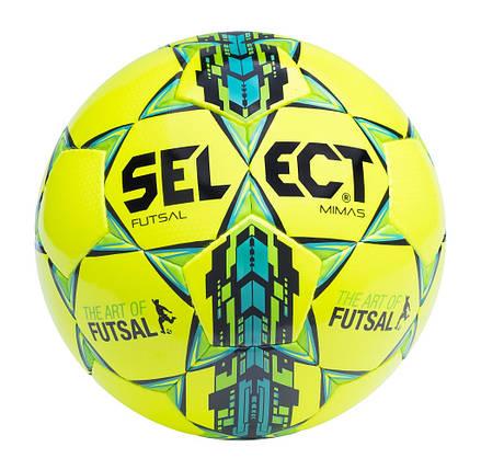 Мяч футзальный мини-футбольный  SELECT Futsal Mimas IMS жёлтый, фото 2