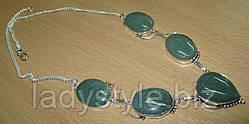 Яскраве кольє з натуральним зеленим авантюрином від Студії www.LadyStyle.Biz