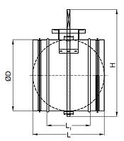 Заслонка воздушная Lessar LV-BDCM 160 H