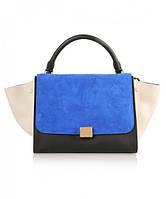Женская сумка CELINE TRAPEZE BLUE (7313)