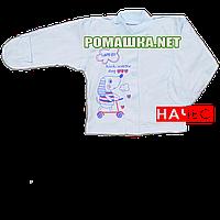 Детская кофточка р. 62 с начесом и царапками демисезонная ткань ФУТЕР 100% хлопок ТМ Алекс 3222 Голубой