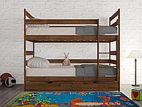 """Кровать двухъярусная из массива """"Ясна"""""""