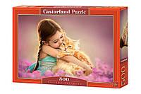 Пазлы Рыжий котёнок 500 элементов Castorland