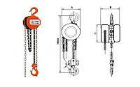 Таль ручная цепная шестеренная HSZ-3, 3.0т/3000мм