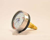 Термоманометр ДМТ 05080: пружинный осевой с поверкой, 150°C, 1,6 мПа, защита ІР53