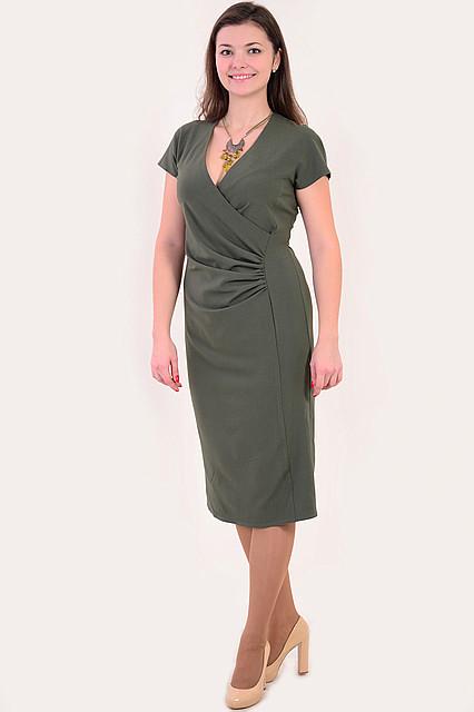 Платье женское «на запах» с драпировкой ботал