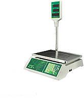 Торговые электронные весы со стойкой Jadever JPL 15 LED до 15 кг, точность 5 г