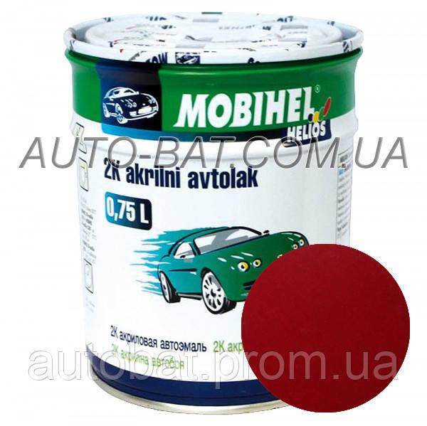 Автоэмаль двухкомпонентная автокраска акриловая (2К) 127 Вишня Mobihel, 0,75 л - Auto-Bat - лакокрасочные материалы в Житомире