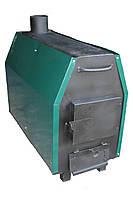 """Печь-буржуйка """"Рукавичка"""" 15 кВт из кольцами"""