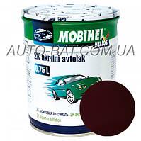 Автоэмаль двухкомпонентная автокраска акриловая (2К) 180 Гранат Mobihel, 0,75 л