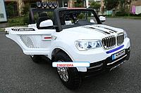 Электромобиль  двухместный  Джип 8088, двух моторный, надувные колеса
