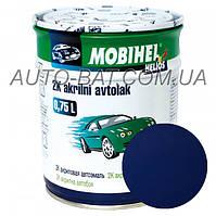 Автоэмаль двухкомпонентная автокраска акриловая (2К) 447 Синяя ночь Mobihel, 0,75 л