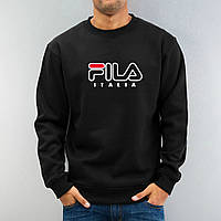 Свитшот чёрный FILA ( цветное лого )