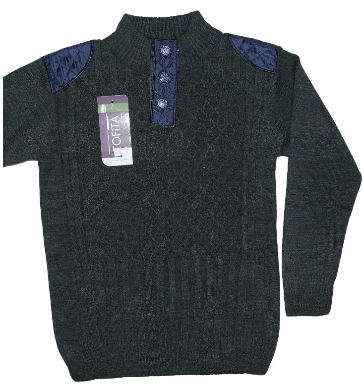 Теплий светр для хлопчика трикотаж в'язка