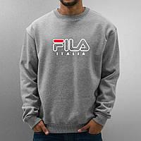 Свитшот серый FILA ( цветной принт )